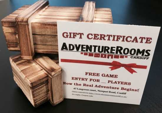 AdventureRooms Cardiff Gift Certificates