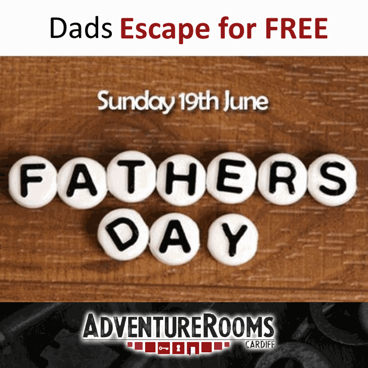 Fathers Day Present from AdventureRooms Cardiff