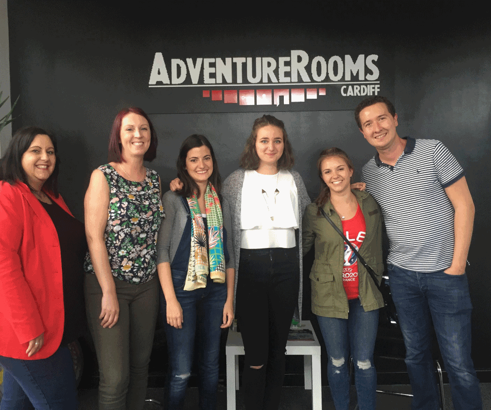 Admiral insurance team building day at AdventureRooms Cardiff